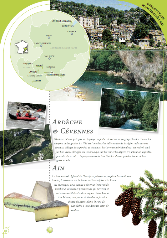 Translation of a catalogue for the French leader of holiday breaks and mobile homes