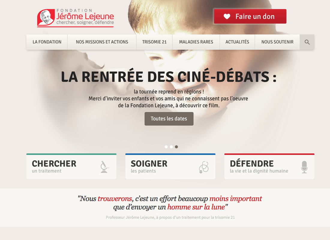 Website Translation for the Jerome Lejeune Institute
