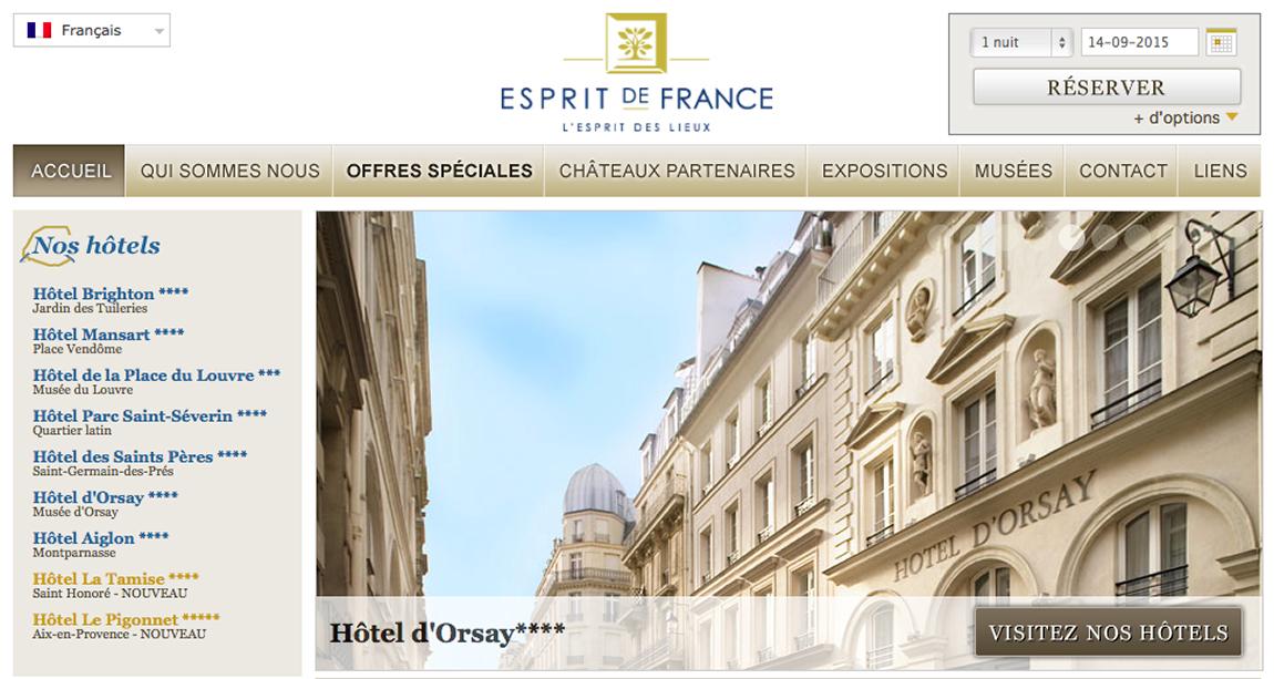 Touristic translation for Esprit de France