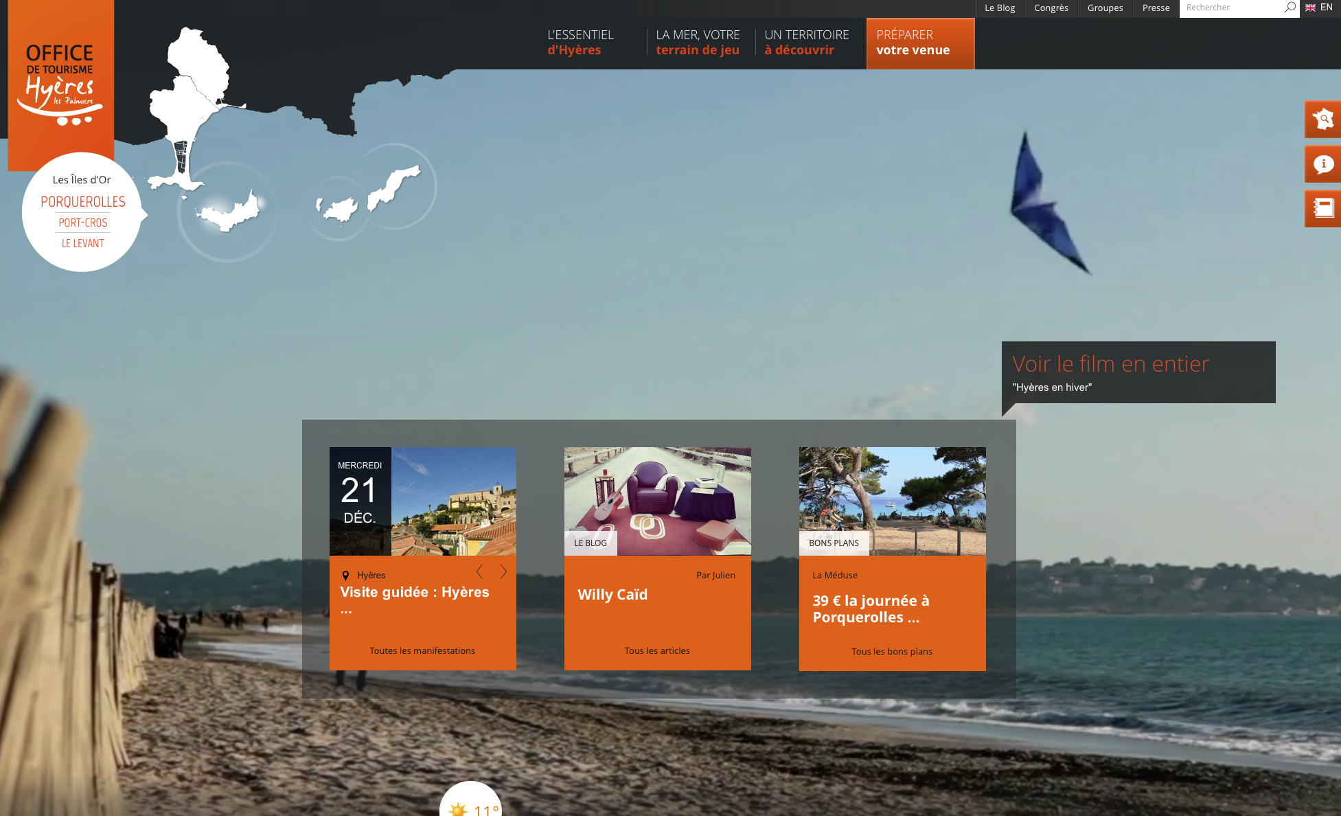 Tourism translation for the Hyeres tourism office