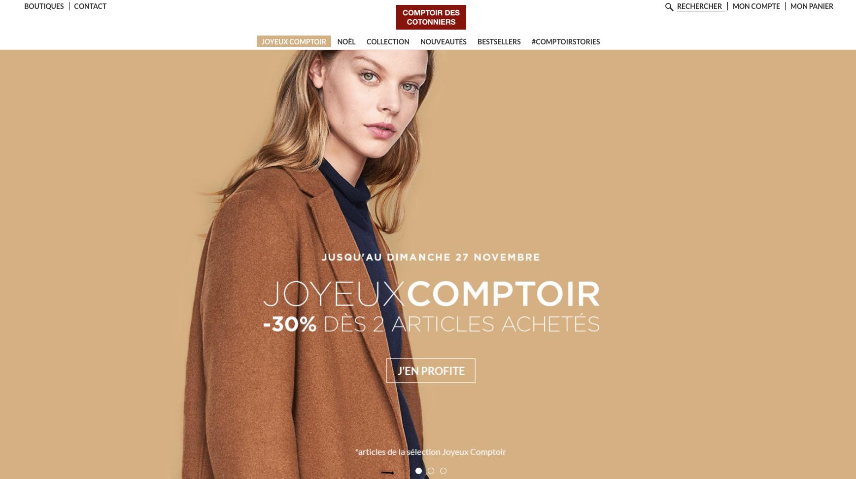 Lingerie translation Comptoir des Cotonniers
